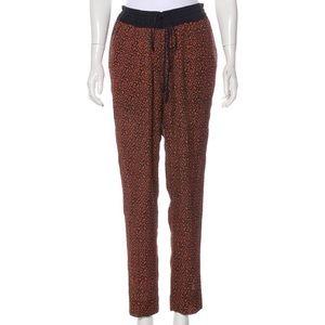 A.L.C Orange & Navy Silk Pants
